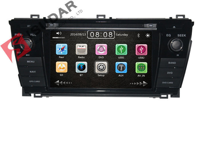 Left Hand Driving Toyota DVD GPS Navigation For Toyota Corolla 2014 Navigation System