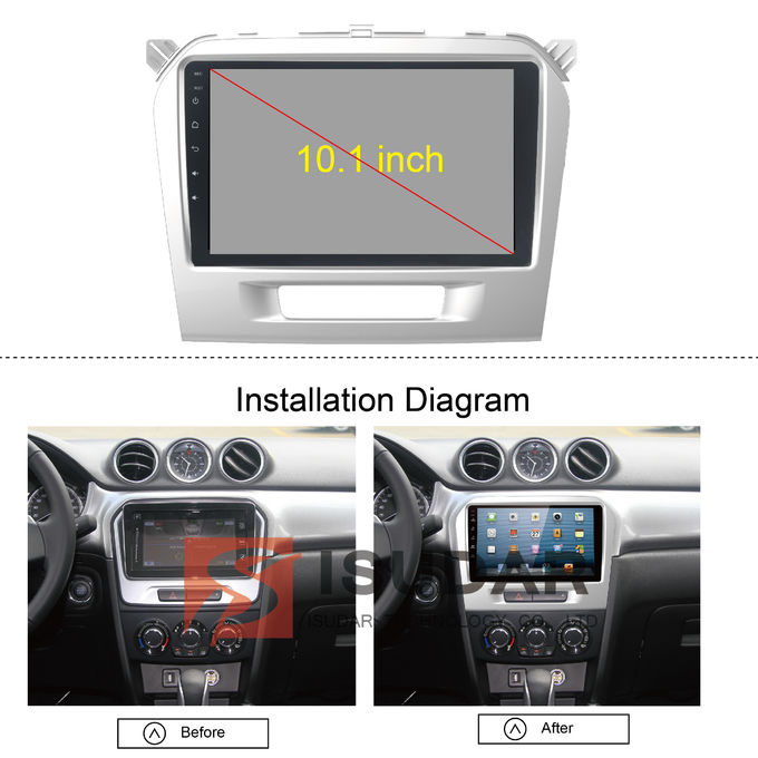 Viererkabel-Kern-Android 7.1.2 Suzuki Grand Vitara Dvd Gps-System, in Schlag-Touch Screen Stereolithographie